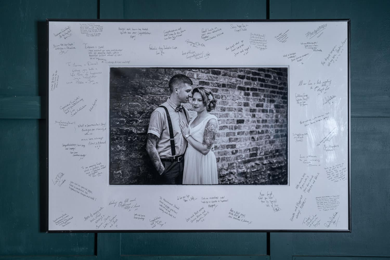 One of our Signing mounts featuring a pre-wedding shot, from one of our engagement & pre-wedding shoots