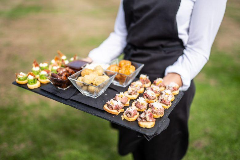 Tray of food at Chippenham Wedding