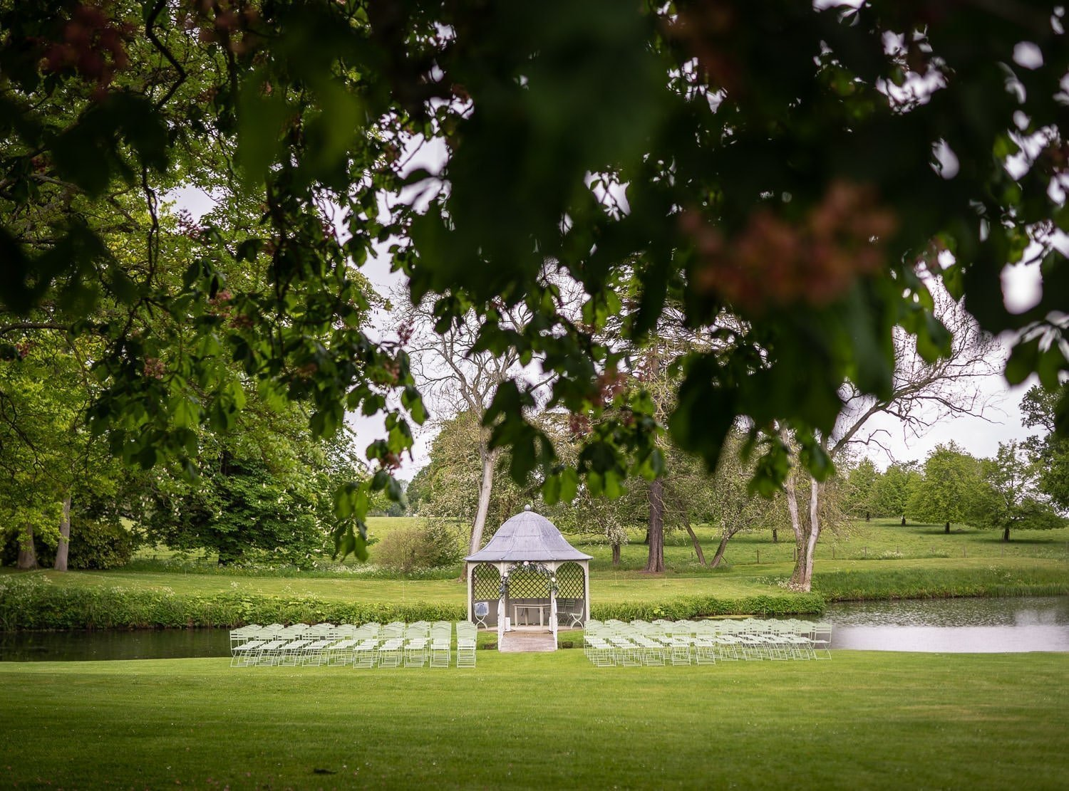 Ceremony area at Longstowe Halll Wedding