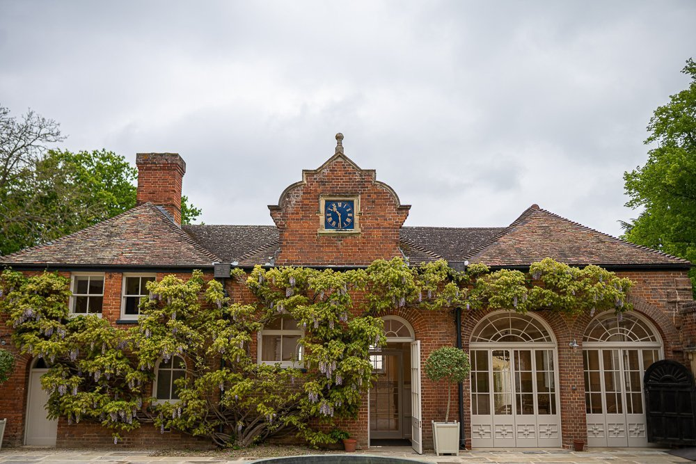 Longstowe Hall's courtyard