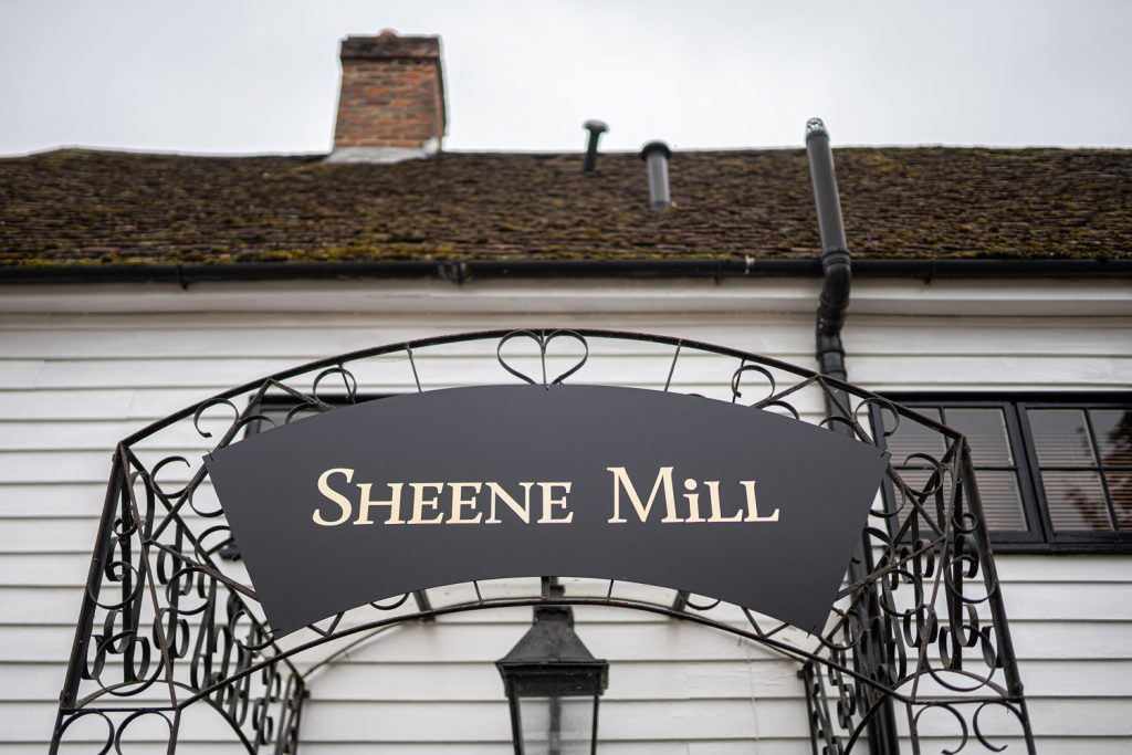 This is the sign that greets all at a Sheen Mill Wedding