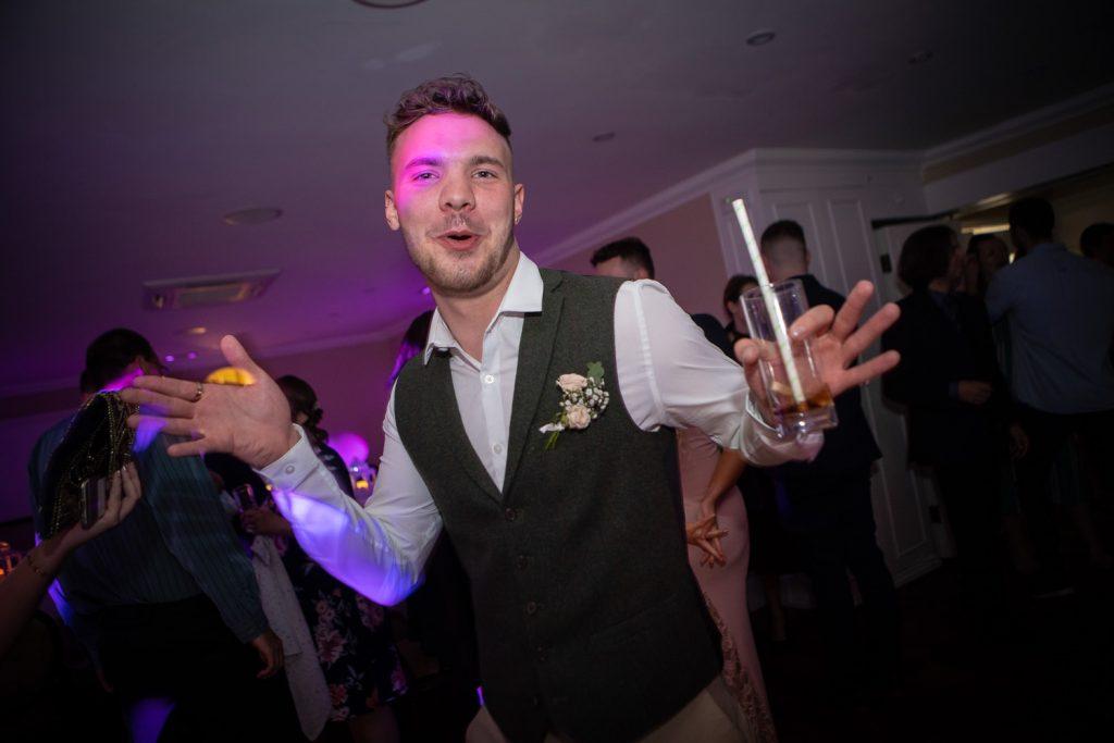 Party guest dancing Sheen Mill Wedding