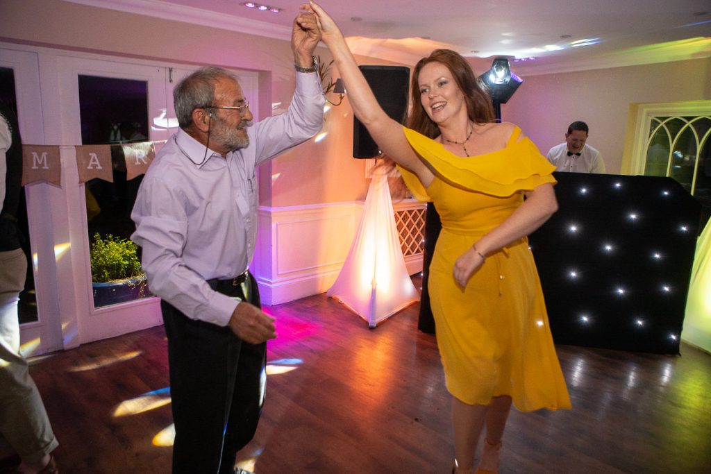 Two people dancing at Sheen Mill Wedding