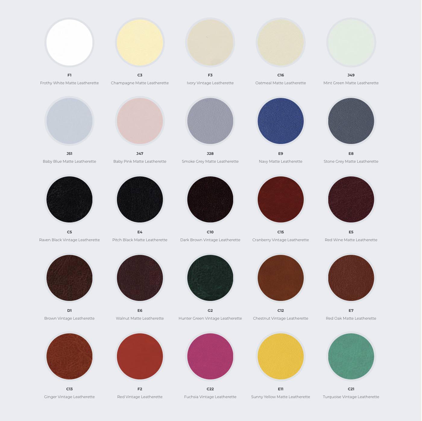 Wedding Albums Sample block showing album leatherette colour samples
