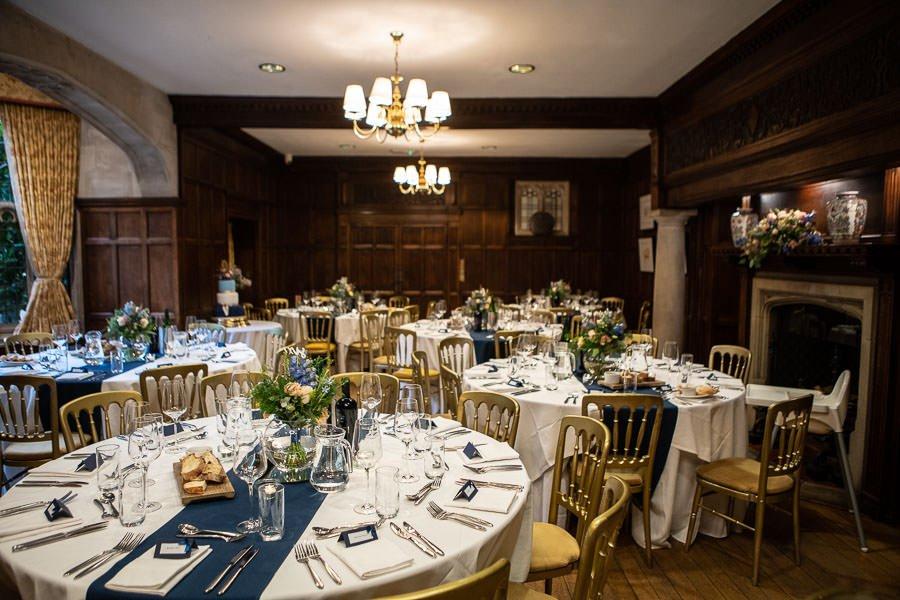 Dinning room at Lanwades Hall Wedding
