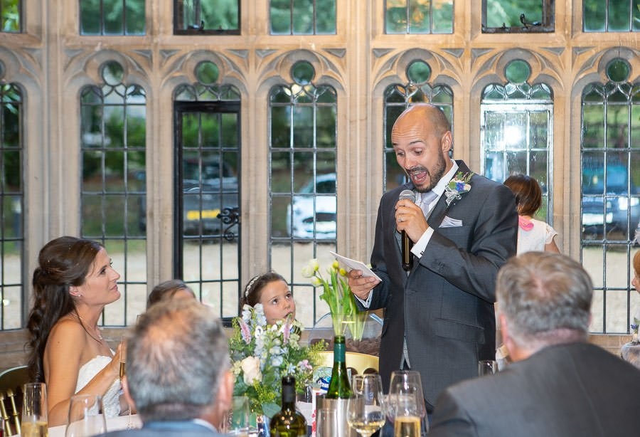 The speeches at Lanwades Hall Wedding
