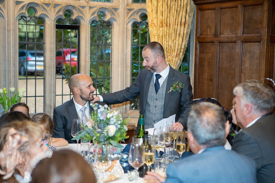The speeches at a Lanwades Hall Wedding