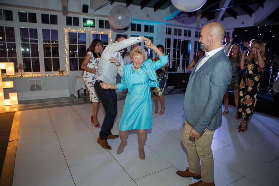 Guests dancing at Swynford Manor Wedding