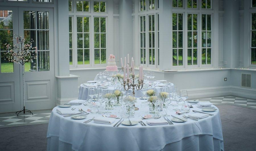 Swynford Manor Wedding wedding breakfast table set