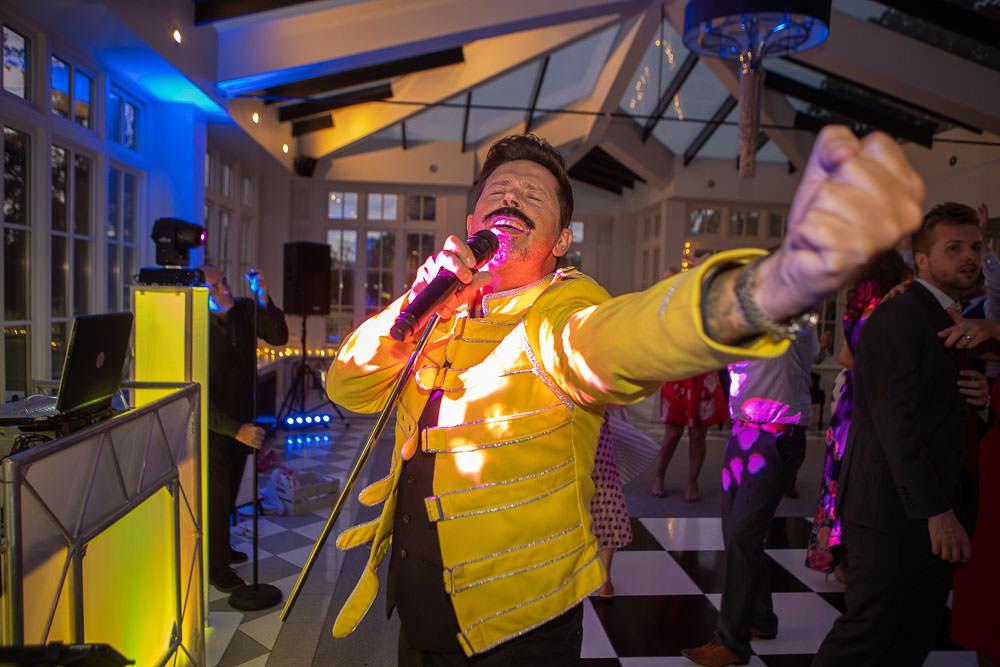 Freddie Mercury Look a Like at Swynford Wedding