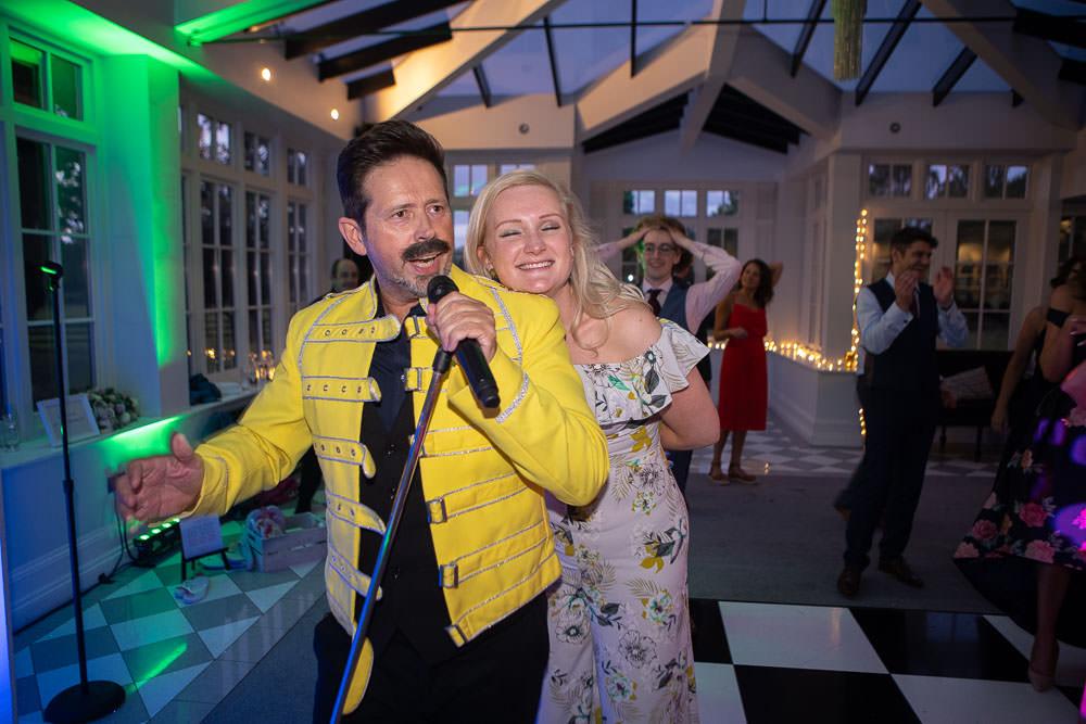 Freddy Mercury look a like at swynford wedding