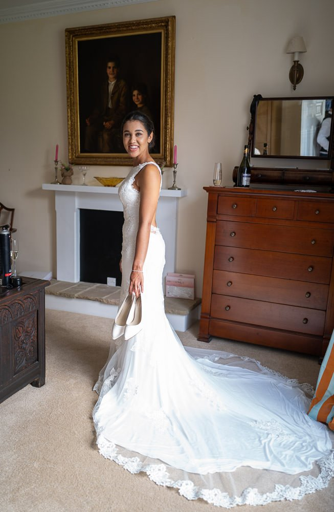 Bride inner dress at bridal suite