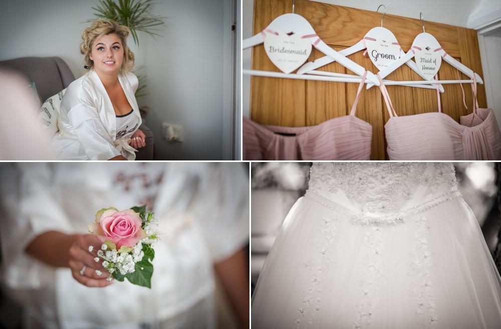 Four shots showing some bridal preparation shots